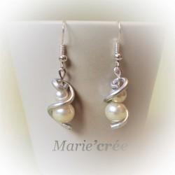 Boucles d'oreilles ADRIANNE (collection Mariée)