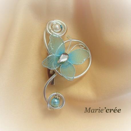 broche epinglette fantaisie perle papillon