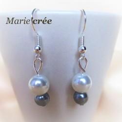Boucles d'oreilles ROMANE (collection Mariée)