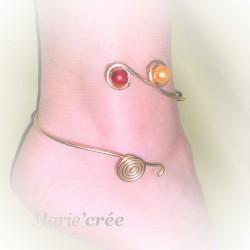 Bracelet cheville fantaisie reglable