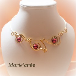 collier fantaisie aluminium perle