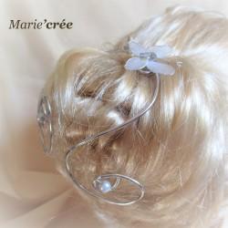 pic accessoire cheveux chignon mariee
