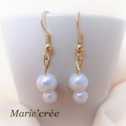 Boucles d'oreilles NELLY (collection Mariée)