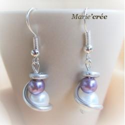 boucle oreille fantaisie perle