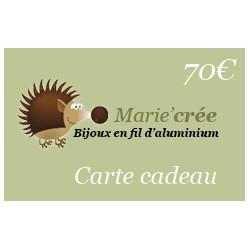Carte cadeau à 70€